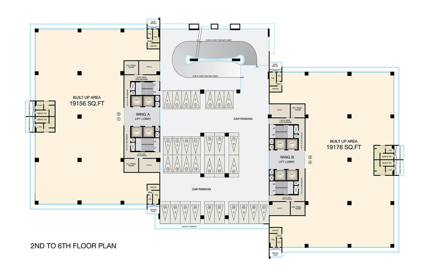 Fulcrum-2nd-to-6th-floor-Plan