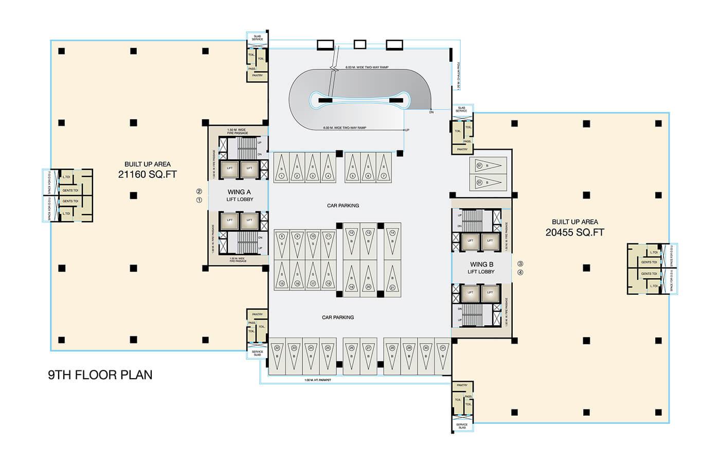 Fulcrum-9th-Floor-PLan