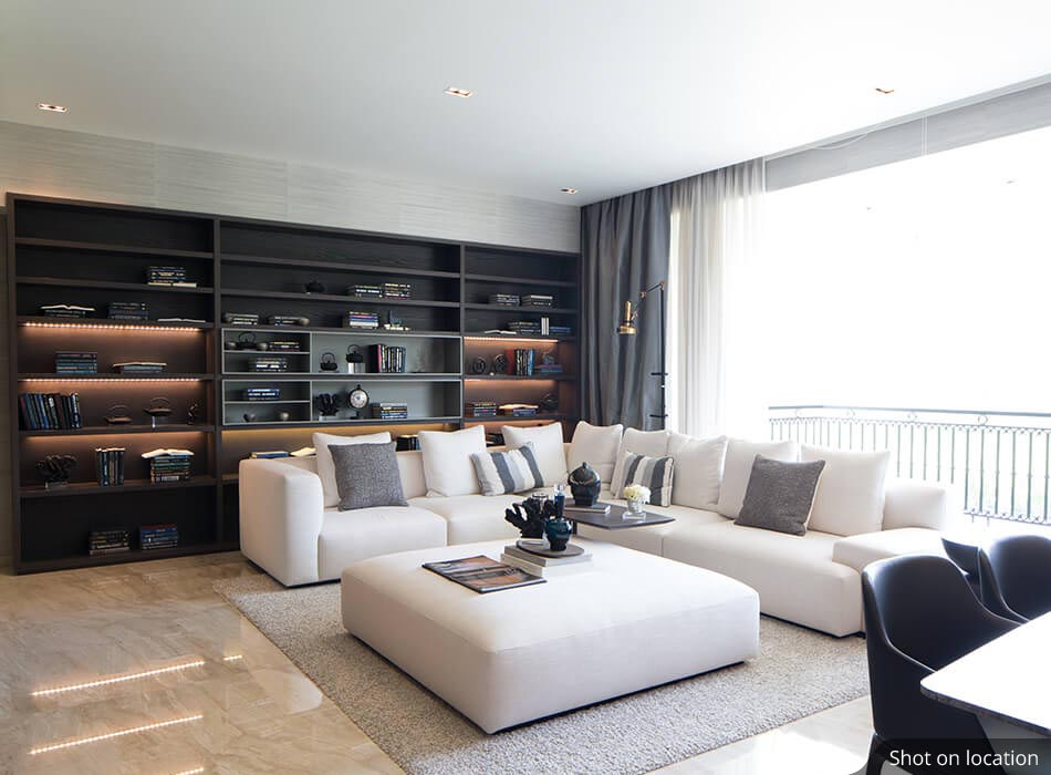 Living room 1 (2 ) in Bayview by House of Hirandani in OMR, Chennai