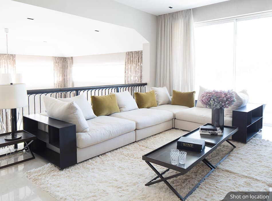 Living Room (1) in Cypress by House of Hirandani in Devanahalli, Bengaluru