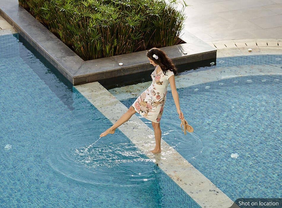 Swimming pool in Edina by House of Hirandani in OMR, Chennai