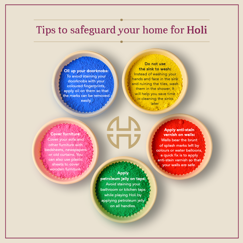 tips to safeguard your home for holi